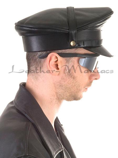 Leather Uniform Cap Hat Police Cop Ebay